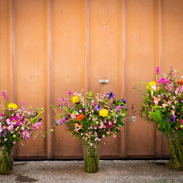 Atelier floral en équipe