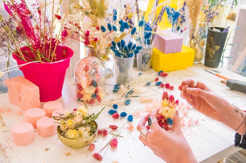 Team building virtuel Atelier-creation-d-une-couronne-ou-cloche-florale