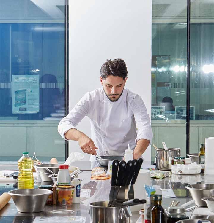 Animation digitale cours de cuisine top chef