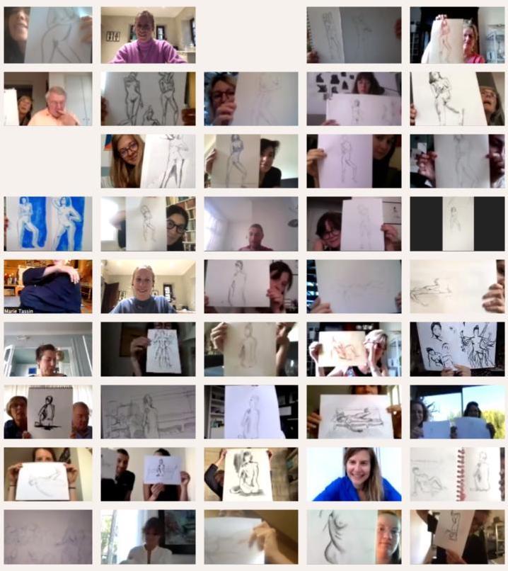 Atelier de dessin en ligne