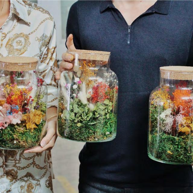 Atelier terrarium floral